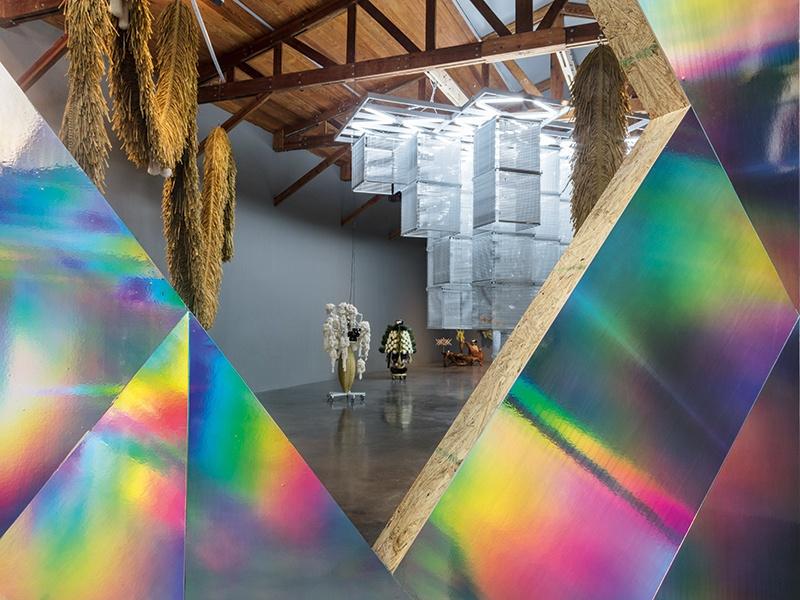 Haegue Yang's <i>ornamento y abstracción</i> was exhibited at kurimanzutto in Mexico City in 2017. Photograph: Omar Luis Olguín