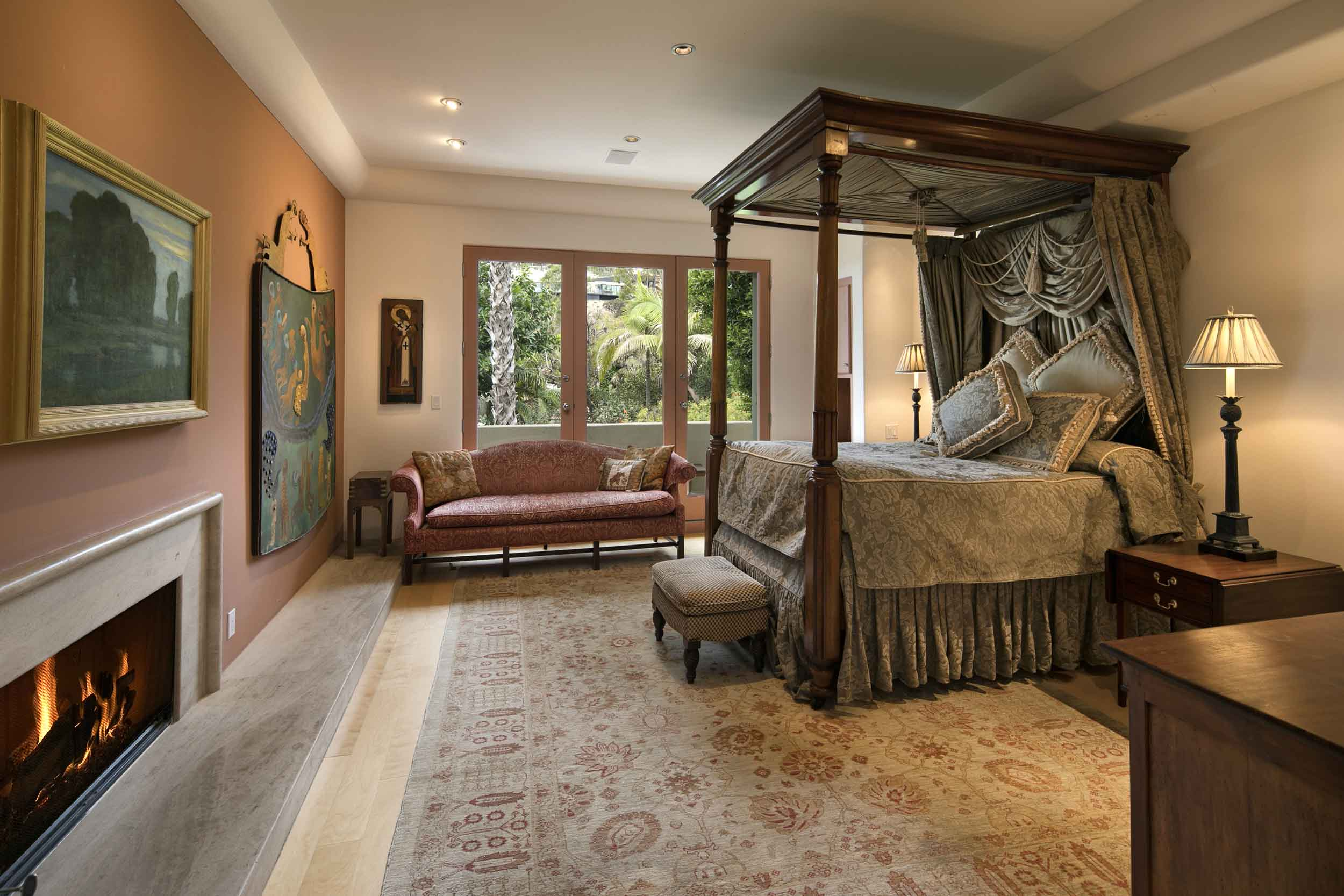A generous second master bedroom also occupies the second floor.