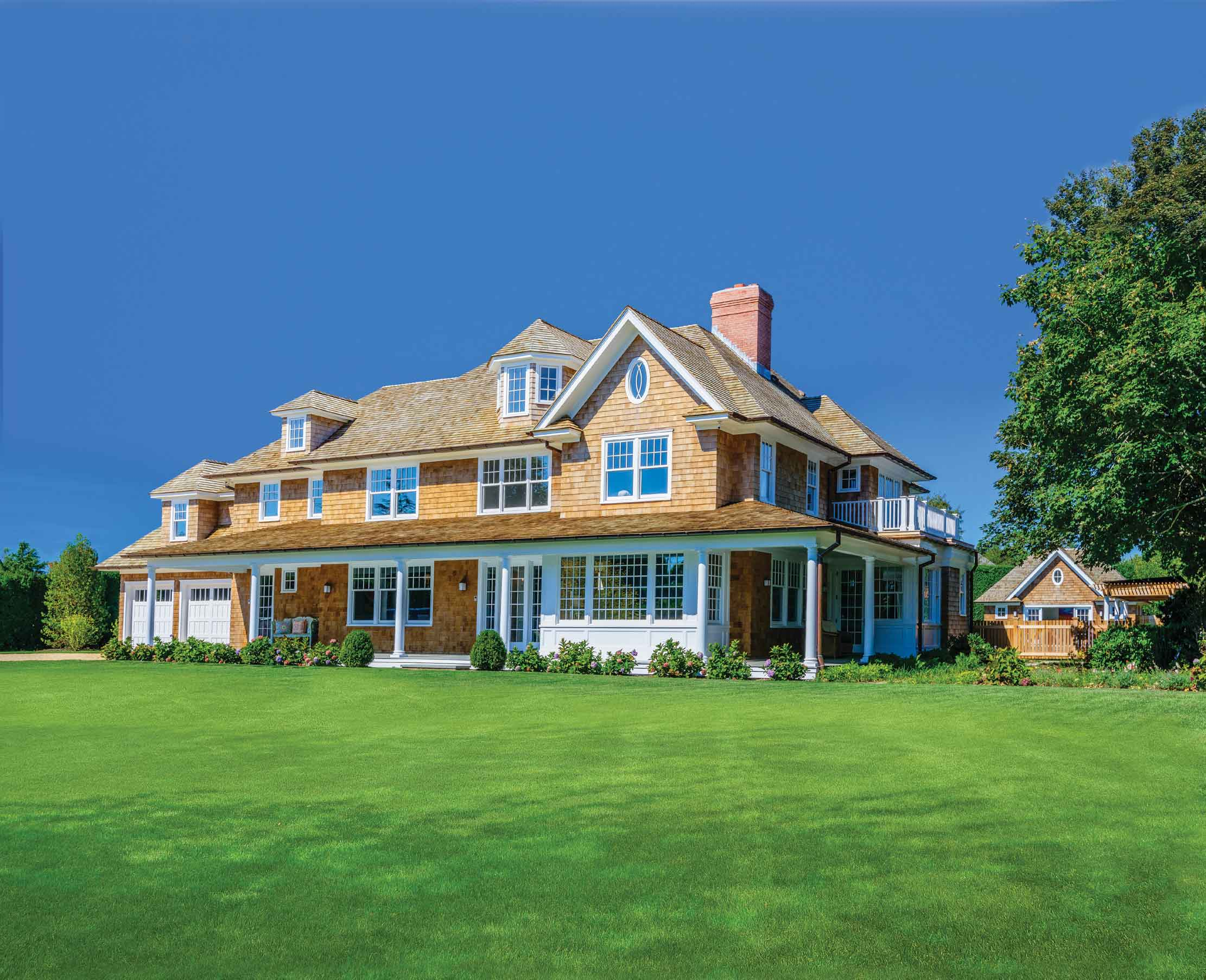 This LEED-certified home in the Hamptons hamlet of Water Mill combines the traditional Shingle-style architecture of the East End of Long Island with the latest in green amenities.