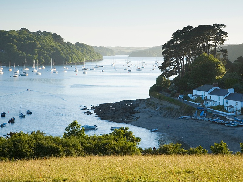 Renowned for its scenic beauty and marine ecology, Helford River in Cornwall is one of Mark Tucker's favorite sailing spots. Photograph: Getty Images