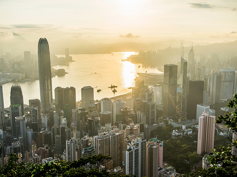 Hong Kong, with its breathtaking skyline, is the world's top prime property market according to the annual Christie's International Real Estate Luxury Index. Photograph: Gallery Stock