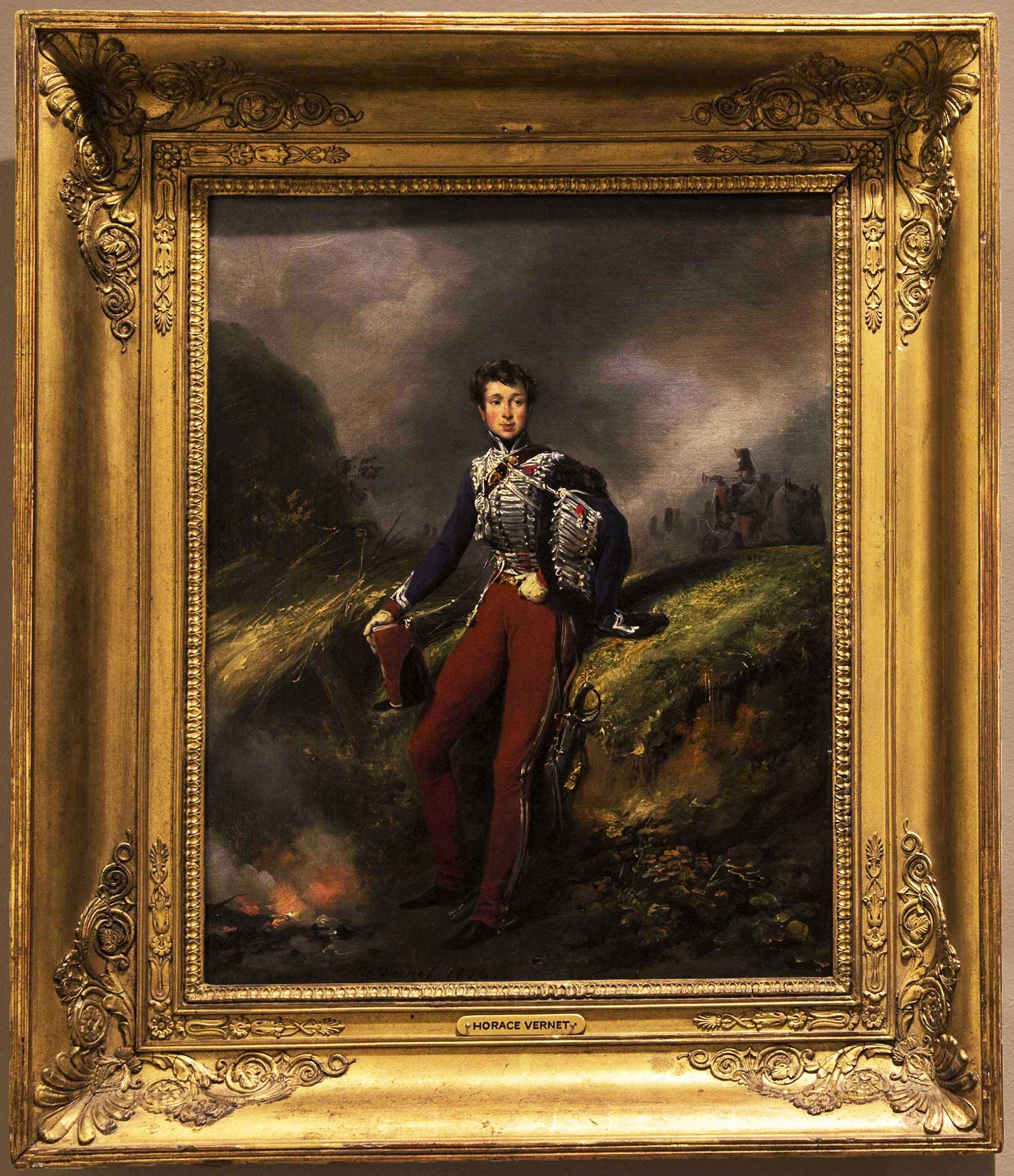 <em>Portrait of Jacques Marie Emmanuel FitzJames</em><br/>Emile-Jean-Horace-Vernet (1789-1863)<br/>