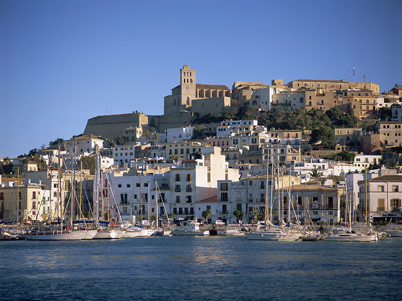 A view of Ibiza Town from the water shows it off to its best advantage. Photograph: Robert Harding