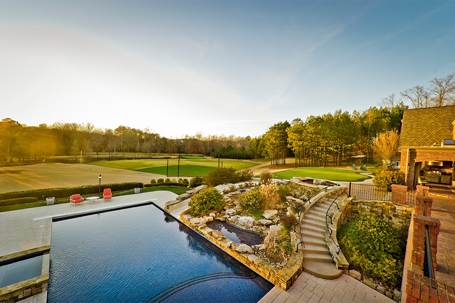 Smoltz not only designed much of the estate, he helped landscape it and enjoys doing some of the maintenance himself now and then.