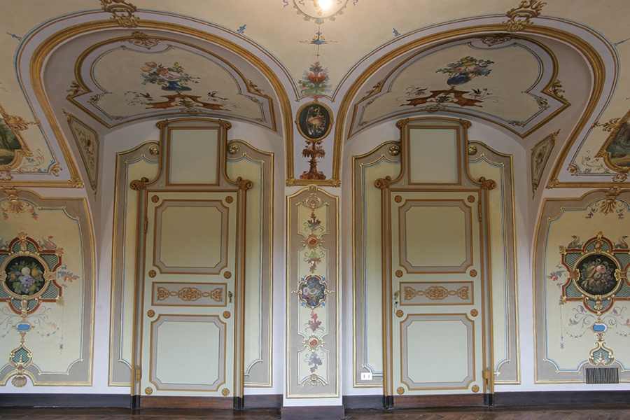 Piedmont artists Francesco Gonin and Constantino Serano were responsible for many of Castle Po's exquisite frescoes.