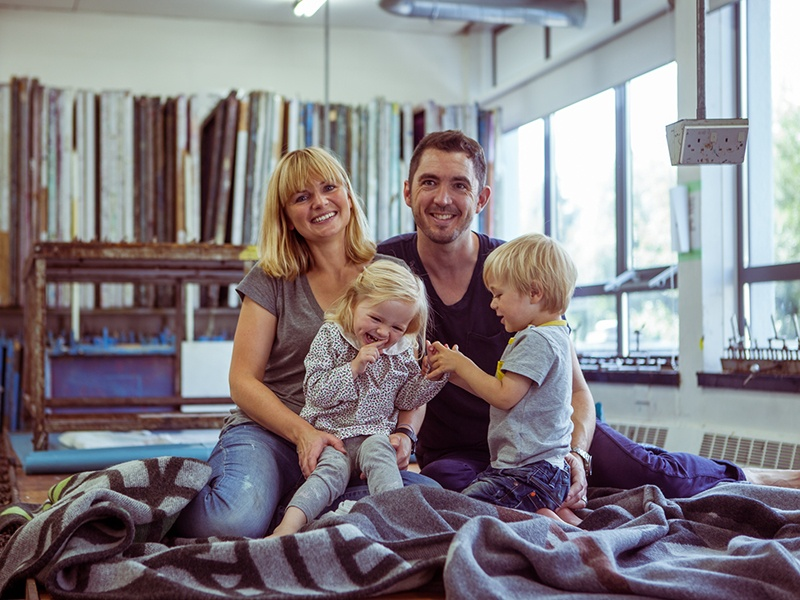 Inigo Scout co-founders Josh and Lisa Robinson with their twins, who were born prematurely.