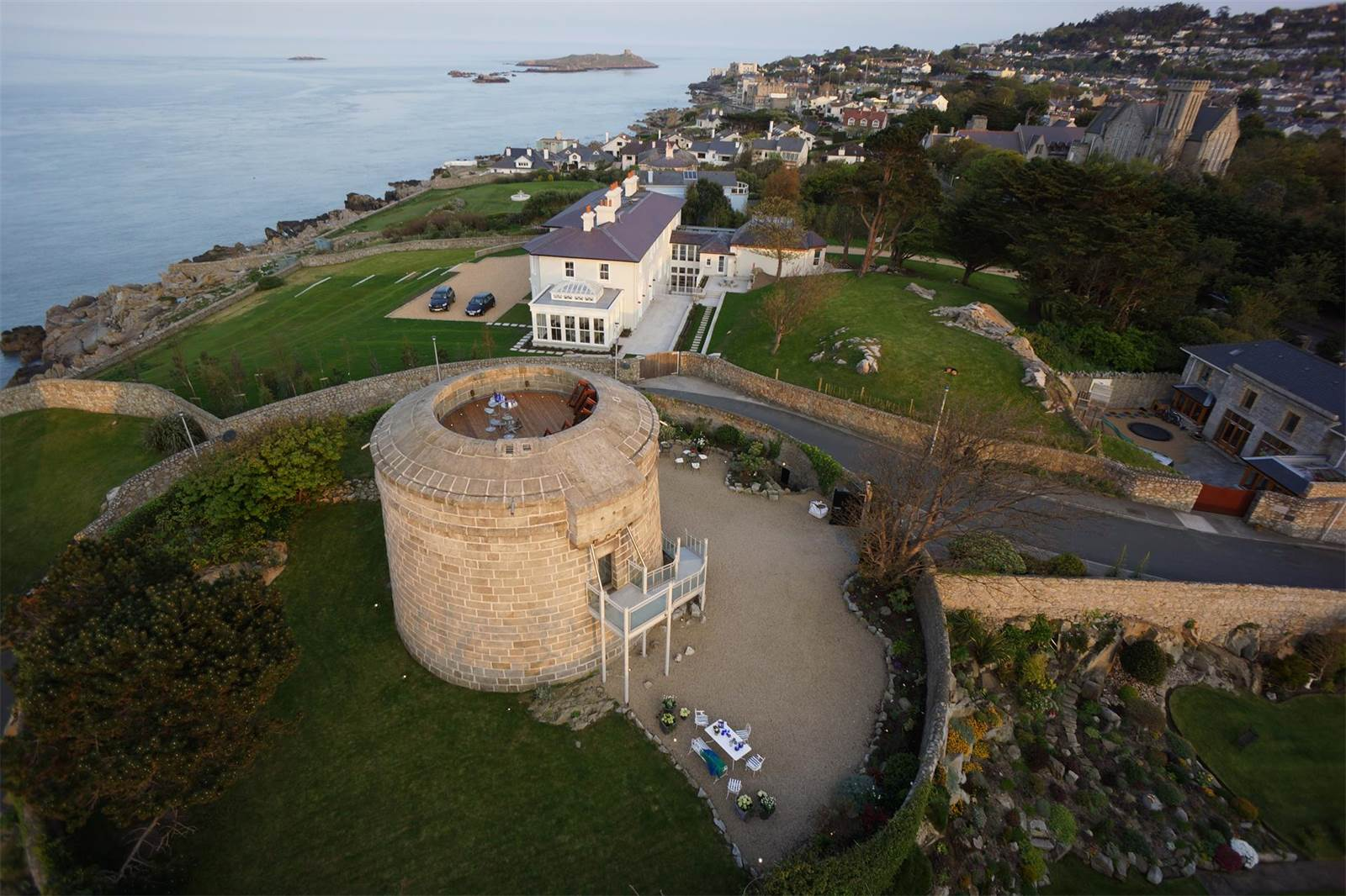 The most significant of Ireland's 16 remaining Martello towers, this Irish National Monument on the Dublin coast has been reimagined as an exquisite private residence.