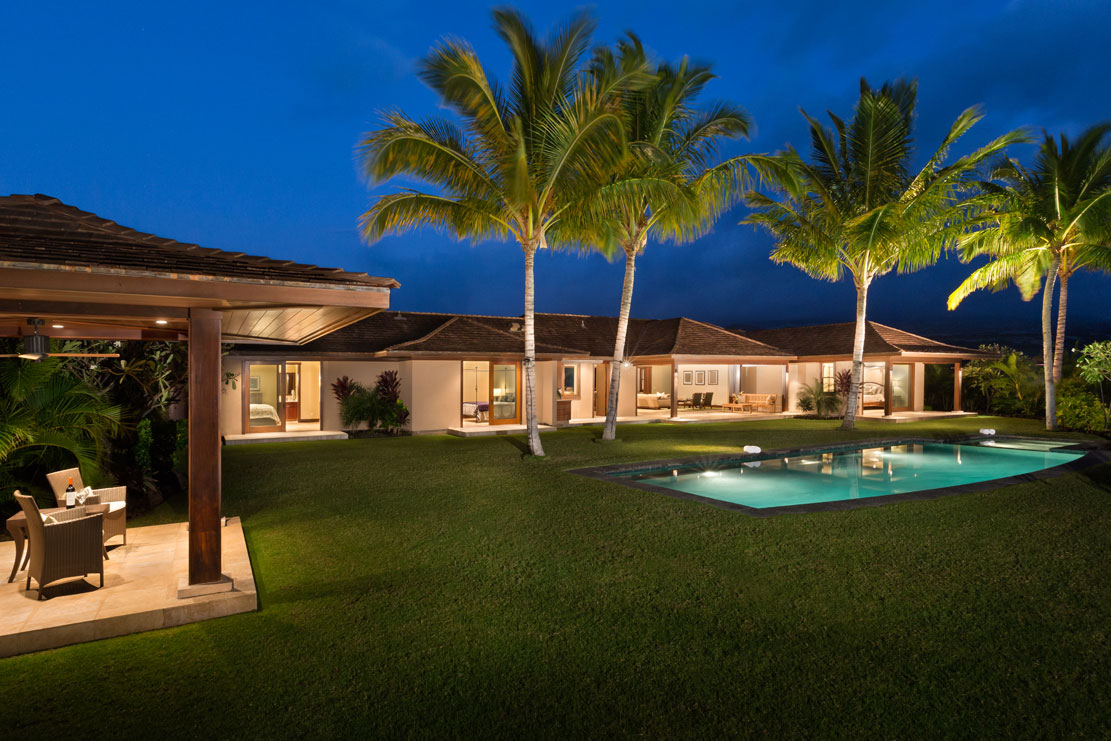 <b>4 Bedrooms, 3,405 sq. ft.</b><br/>Hawaiian custom home in Kukio with ocean views