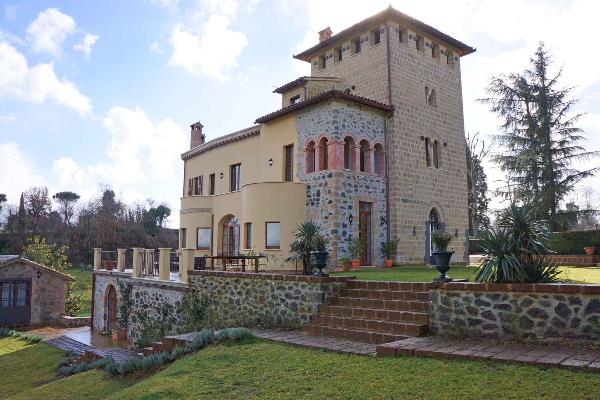 This unique circa-1890s villa has a breathtaking setting in the hills above the enchanting cathedral city of Orvieto, in Umbria, Italy.