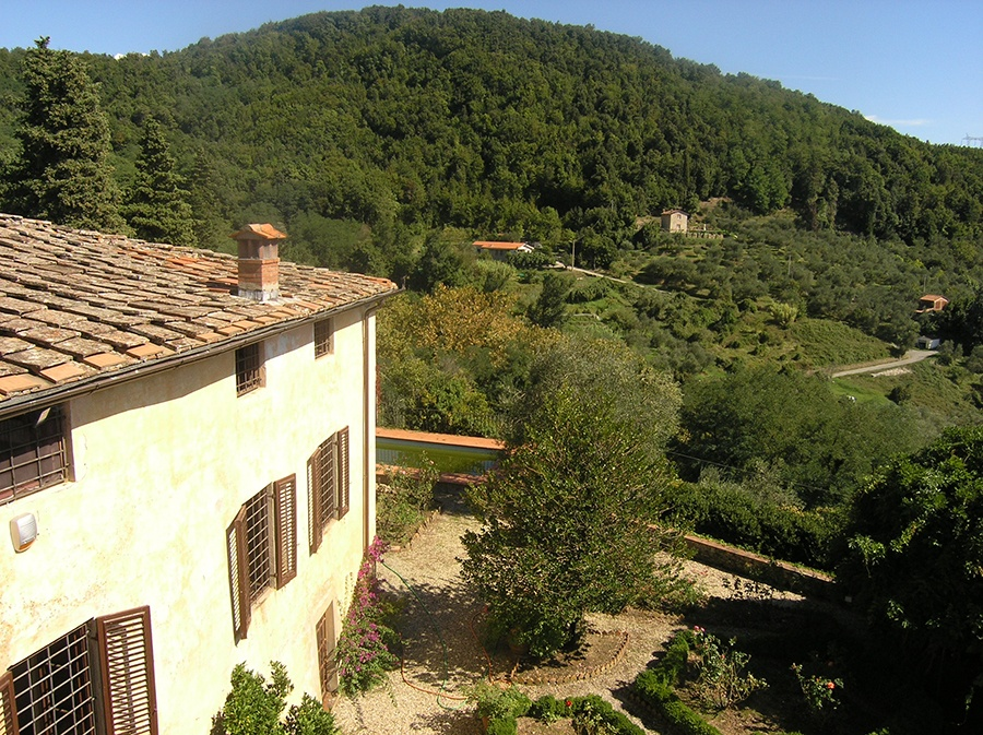 Once home to the late Italian film star Marcello Mastroianni, this idyllic villa is surrounded by gardens, olive groves, and vineyards in the heart of the Tuscan countryside, just outside Lucca.