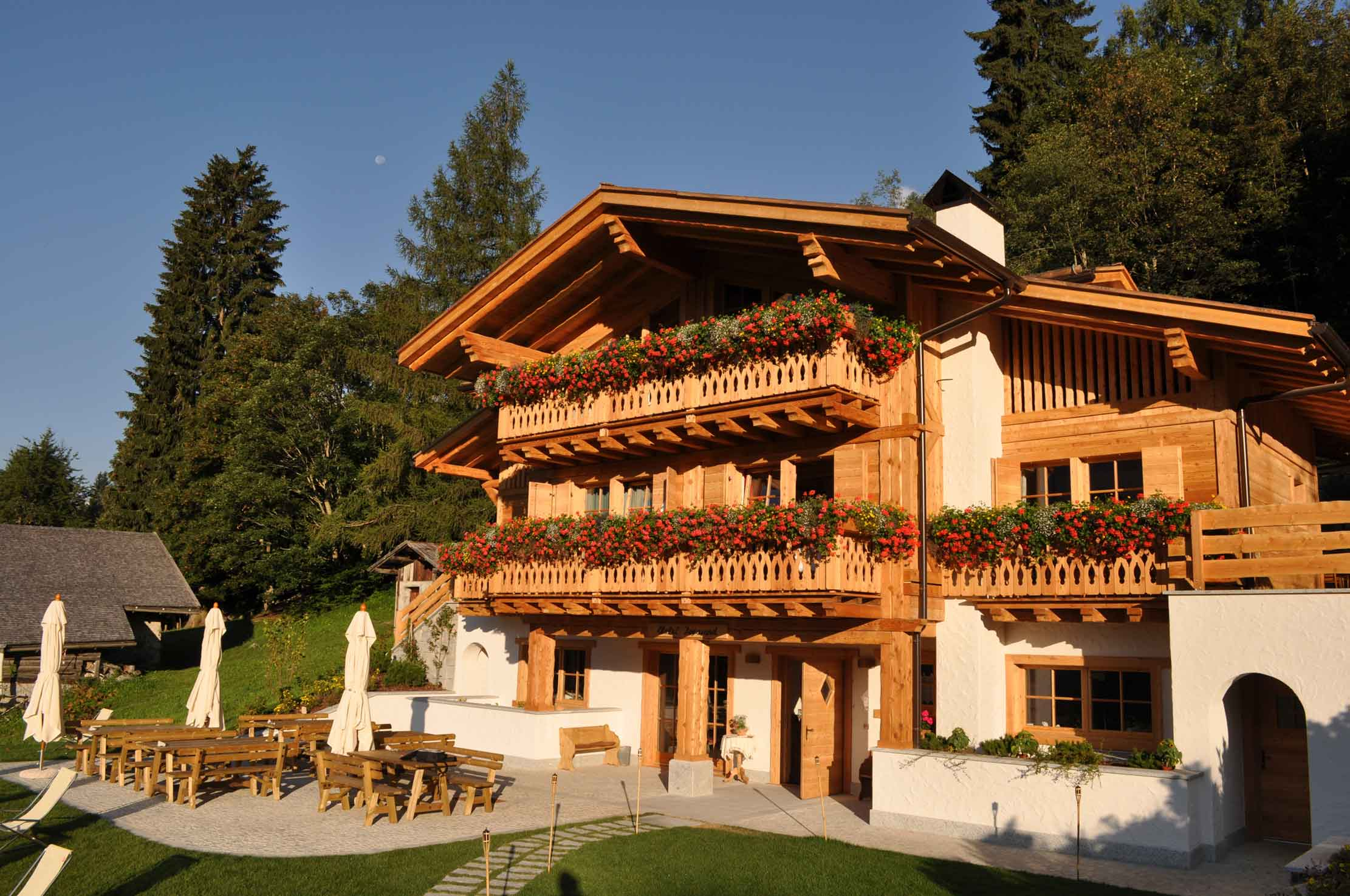 This earth-friendly aerie in Italy's Brenta Dolomites has been designed with sustainable building materials, numerous energy-saving systems, and a host of luxurious features for environmentally aware adventure seekers.