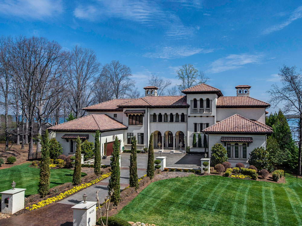 <b>5 Bedrooms, 12,482 sq. ft.</b><br/>Mediterranean-style villa with Lake Norman views