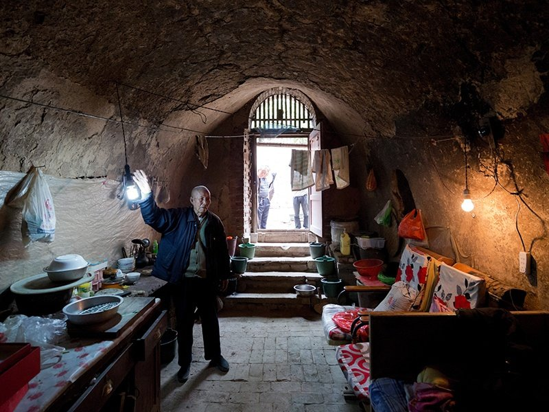 Baan enjoys pushing the boundaries of comfort by visiting locations that subvert his Western upbringing. This image was taken at a home in Sanmenxia, Henan Province in China—thousands of people lived in underground caves here until the early 21st century. Photograph: Iwan Baan.