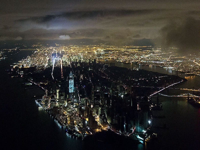 After Hurricane Sandy hit the US in 2012, half of New York City was left without power for almost a week. Baan took to the skies to get this dramatic aerial shot. Photograph: Iwan Baan.