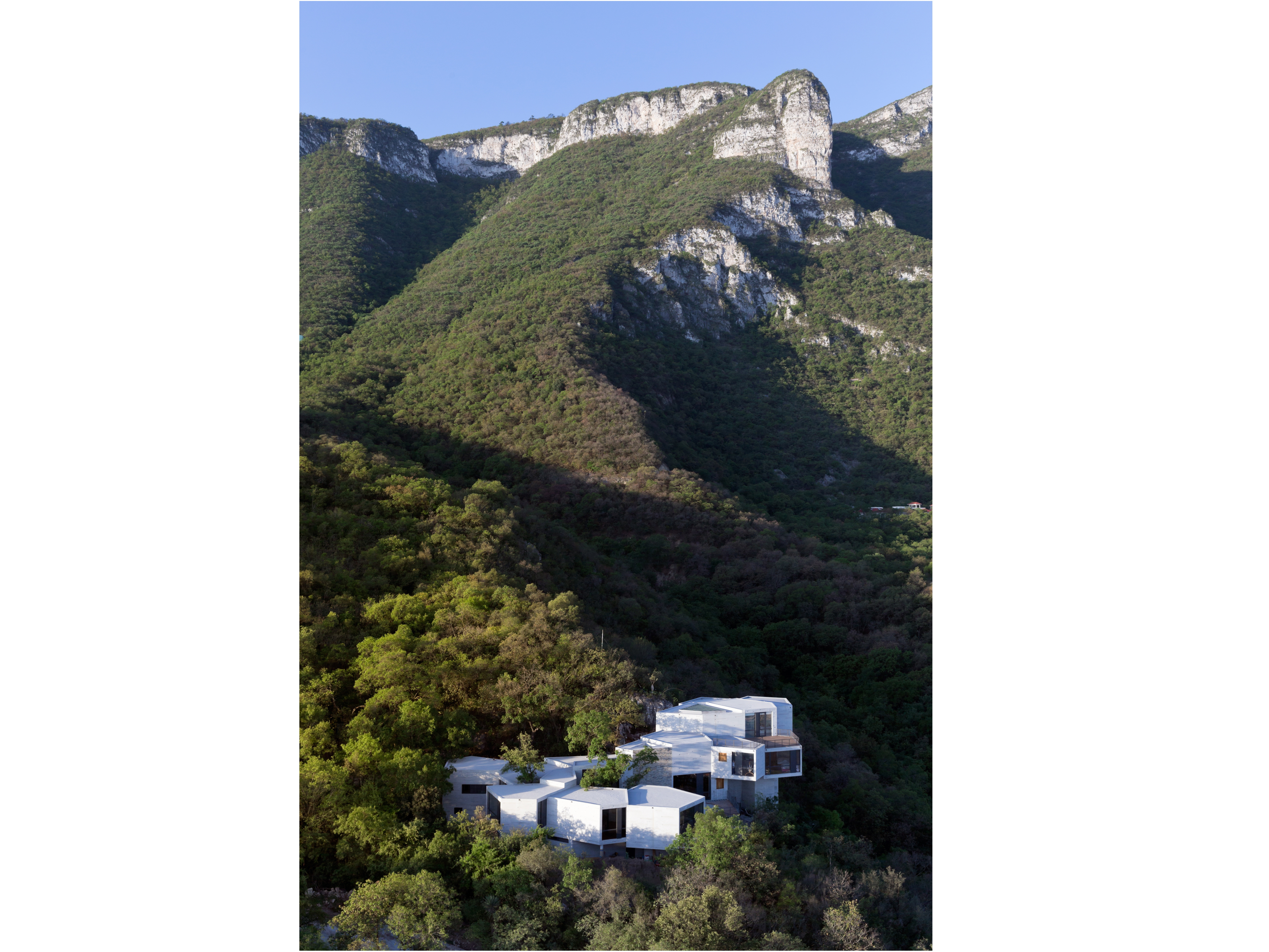 Iwan Baan is currently working on a book with Mexican architect Tatiana Bilbao, whose concrete Casa Ventura nestles in a forested hillside outside of the city of Monterrey, Mexico. Photograph: Iwan Baan.