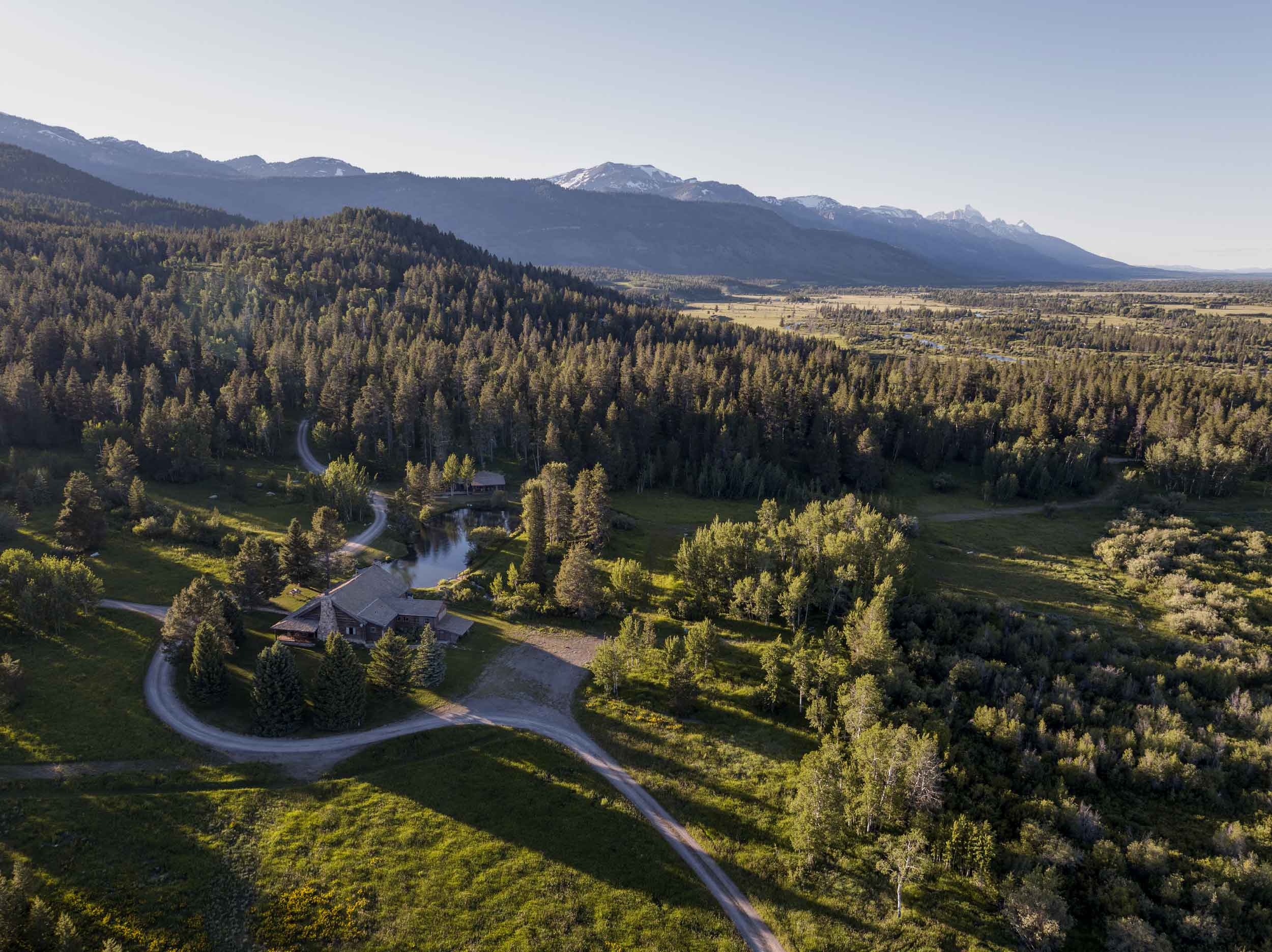 This spectacular 158-acre estate on the doorstep of Yellowstone and Grand Teton national parks is surrounded by millions of acres of virgin forest.