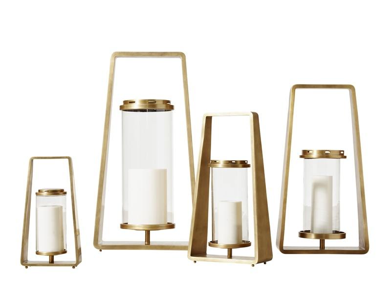 These stylish lanterns by Jonathan Browning take inspiration from the angular lines of 1940s and 50s designs.