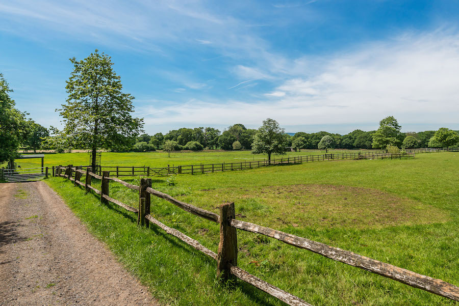 June Farm is situated on nearly 25 acres of lush countryside. The grounds are home to extensive gardens and immaculate lawns in addition to its superb equestrian facilities.