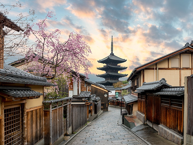 While there are plenty of opportunities for high-end shopping, a walk around Kyoto's unspoiled old streets offer an authentic taste of Japanese culture. Photograph: Getty Images