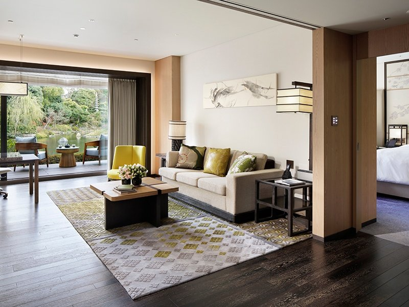 For Four Seasons Hotel Residences Kyoto, designers took inspiration from the 800-year-old Shakusuien pond garden on the property, creating residences that are a private haven of tranquility.