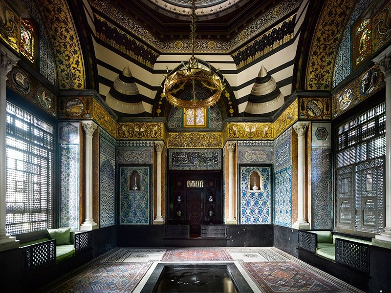 The construction of the exquisite Arab Hall in Leighton House began in 1877, using tiles Frederic Leighton and others collected during their travels to the Middle East. Photograph: Will Pryce