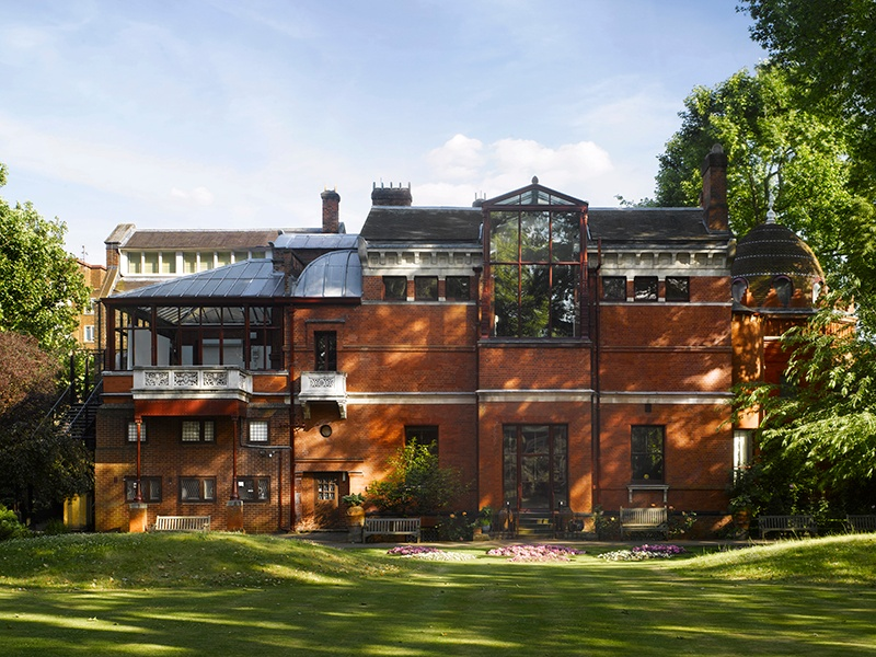 """The back garden of the Leighton House Museum in London. Originally constructed to a modest plan, Victorian artist Frederic Leighton's estate expanded over decades to become a """"private palace of art."""" Photograph: Will Pryce"""