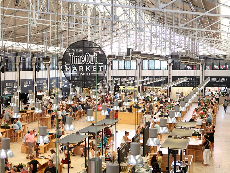 For fresh produce, as well as dishes from some of Lisbon's top chefs, Mercado da Ribeira is the place to visit.