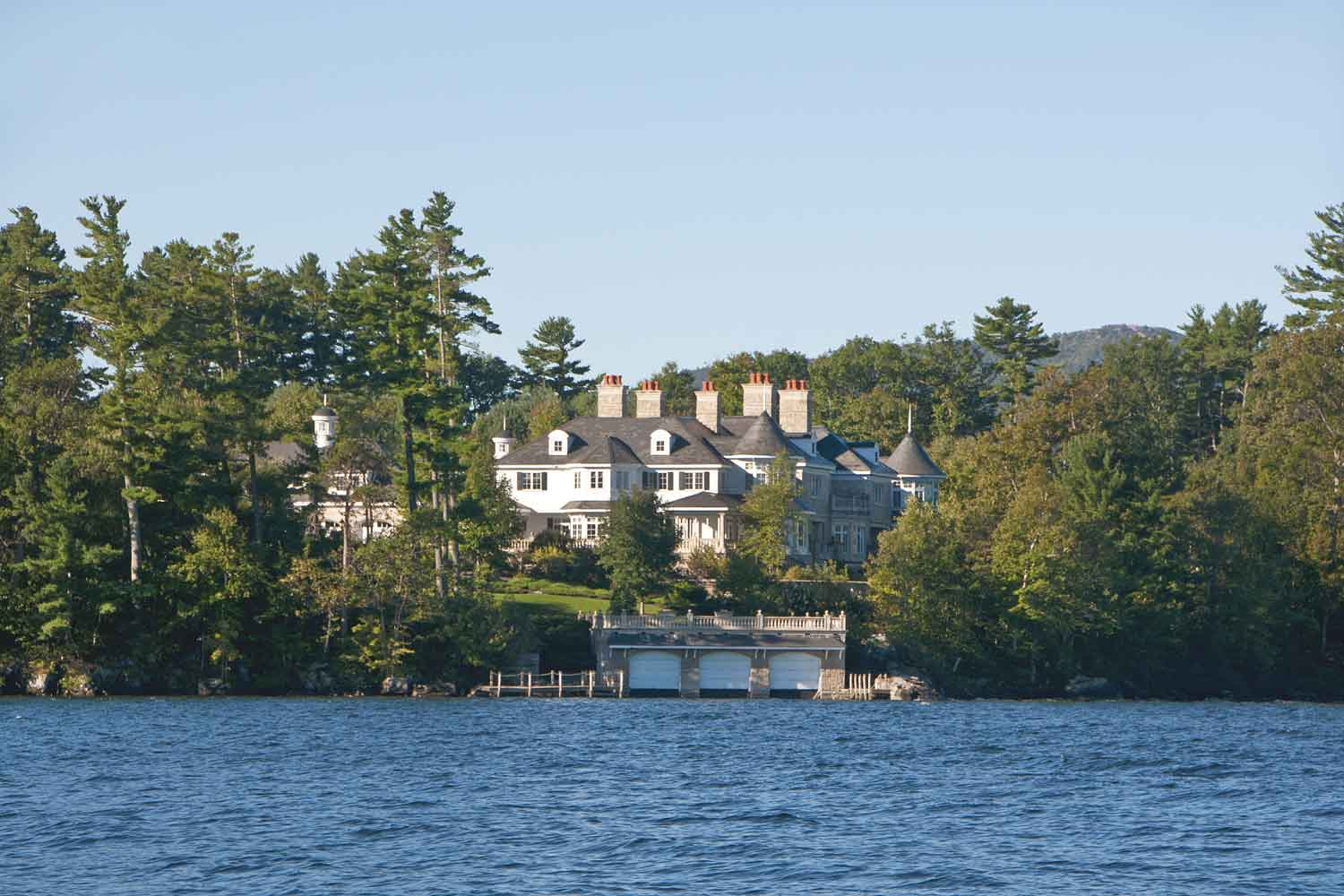 <b>Alton, New Hampshire</b><br/><i>7 Bedrooms, 38,196 sq. ft.</i><br/>Seven-bedroom estate with lake and mountain views