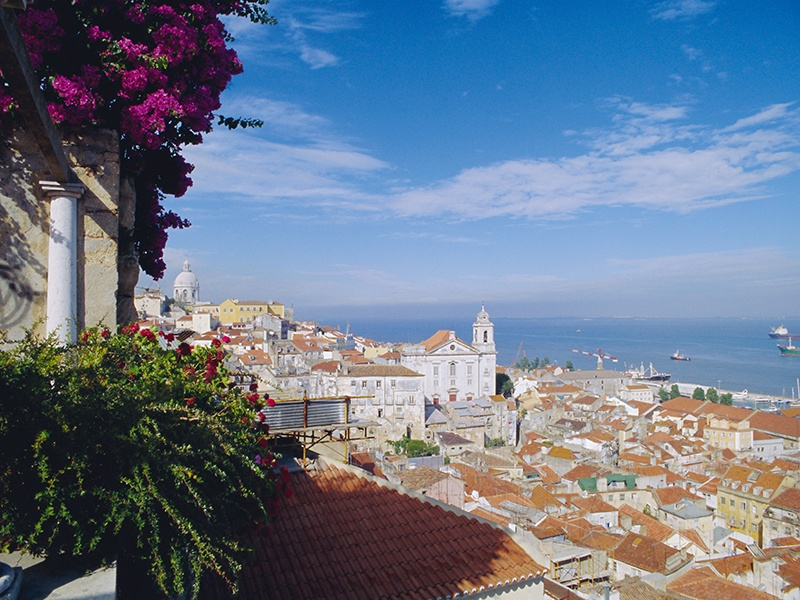 Lisbon enjoys dramatic views from its seven hills and has an average of 250 sunny days a year. Photograph: Robert Harding