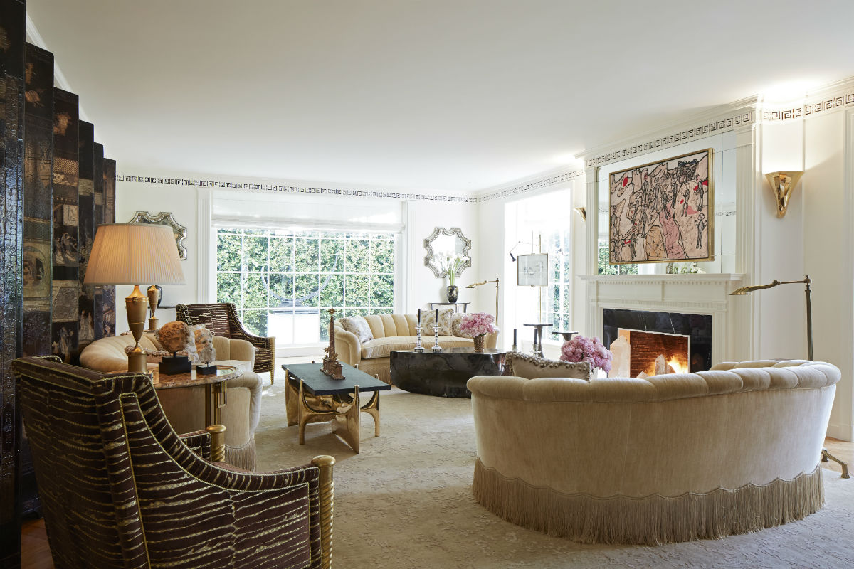 An intimate living room lends a personal touch when entertaining guests.