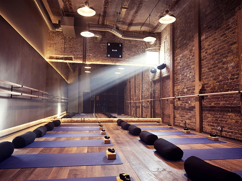 BLOK has two studios: one for boxing, high-intensity interval training, and dance-fit and another for yoga, barre, and Pilates.
