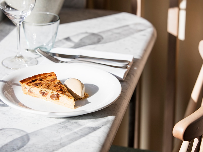 Seasonal modern British and European dishes are on the menu at Lorne, such as Yorkshire curd tart with builder's-tea ice cream.