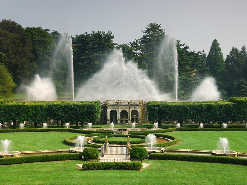 Recently renovated and revitalized, the Main Fountain Garden incorporates technology that allows for a stunning fountain show. Photograph: Getty Images