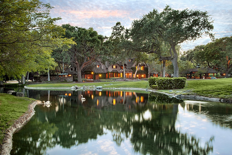 Sycamore Valley Ranch is home to a 5,500-square-foot cinema and a four-acre lake with a waterfall.