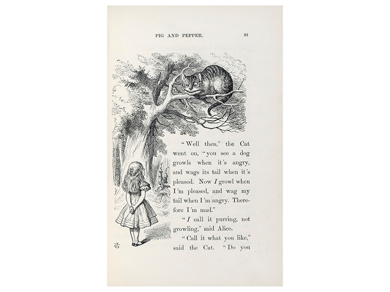 This first edition of <i>Alice's Adventures in Wonderland</i>, with annotations by Lewis Carroll, sold for $1.54 million at auction in 1998.