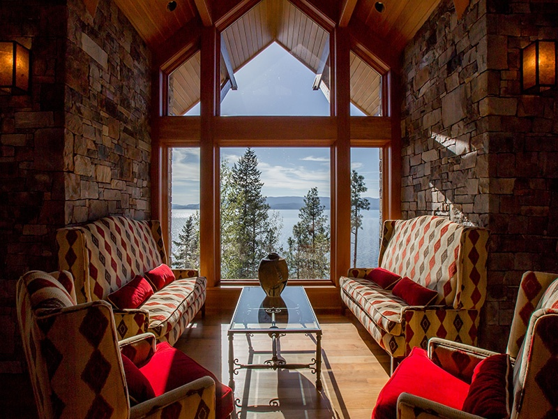 Eagle's Rest on Flathead Lake is a secure compound boasting exquisite attention to detail and every amenity.