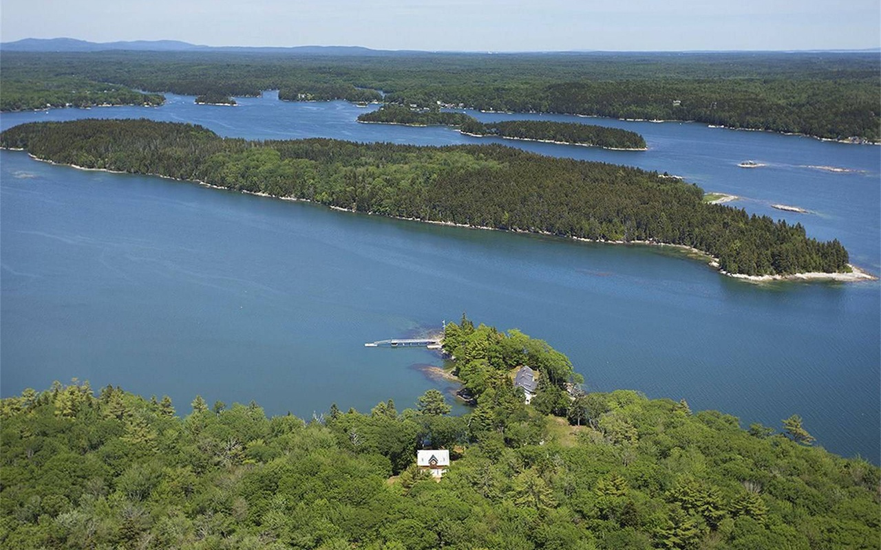 This 113-acre estate with 5,500 feet of shoreline on the Gulf of Maine has served as a private retreat since 1917.