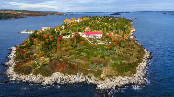 Hope Island is a world unto itself, surrounded by the rugged beauty of the Maine coastline.