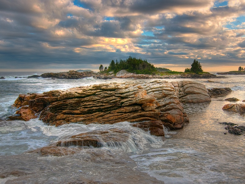 Coastal Maine offers an array of isles for would-be owners, each with its own topographical character—and the area remains blissfully free from over-development. Photograph: Getty Images