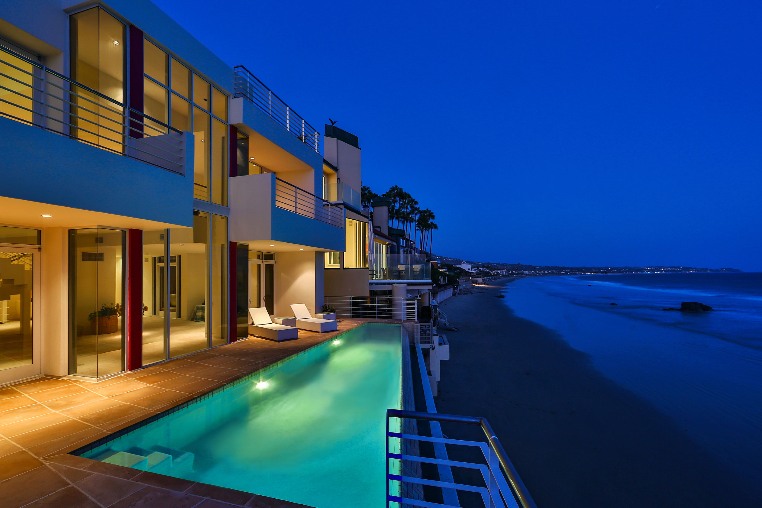 This Malibu estate on exclusive Broad Beach is a gleaming modern masterpiece.