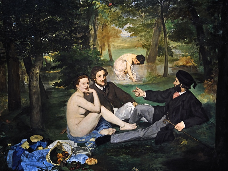 <i>Déjeuner sur l'Herbe</i>, by Édouard Manet, was panned by critics but welcomed by the young painters who later formed the Impressionist group. Photograph: Alamy