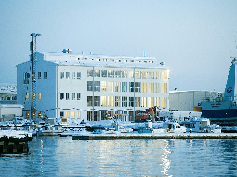Marshall House in Reykjavik brings together two important players in Iceland's contemporary art scene, Kling & Bang Gallery and Living Art Museum, which will both benefit from the high ceilings and wide windows of this beautifully restored former herring factory. Photograph: Einar Falur Ingolfsson