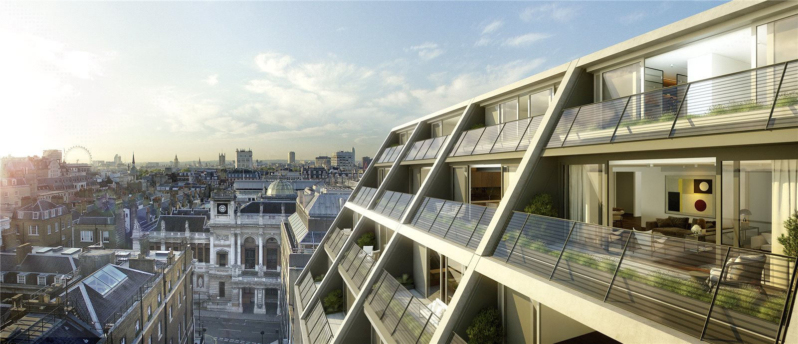 Mayfair's Luxury Quarter is the setting for this deluxe duplex penthouse. Two terraces and a roof deck provide a bird's-eye view of Big Ben, the London Eye, and a city of landmarks.