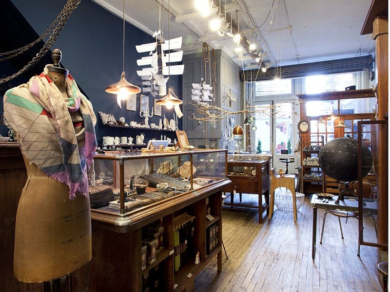 "Inside Michele Varian, a design company of home decorative accessories, on SoHo's Howard Street, which describes itself as ""a favorite among editors, interior designers, and loyal shoppers alike."""