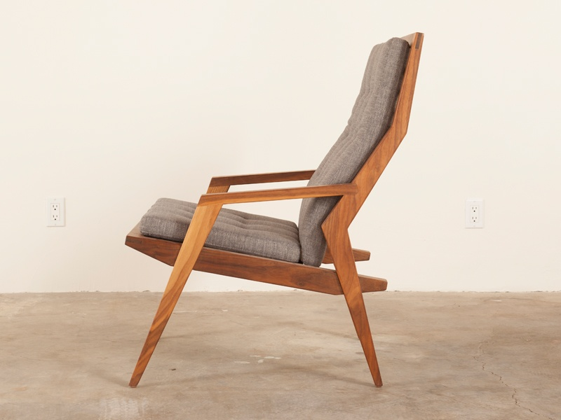 Matt Monroe's Haverhill Lounge Chair, available in eight colorways, including smoke (pictured), mango, and teal.
