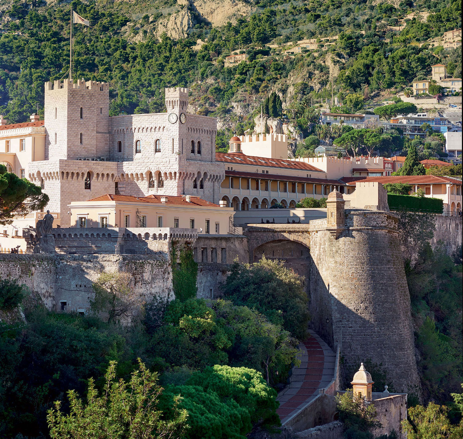 Villa San Martin is located in the very heart of the Old Town, next to the Prince's Palace, no less—making it one of the most secure spots in the already incredibly safe principality.
