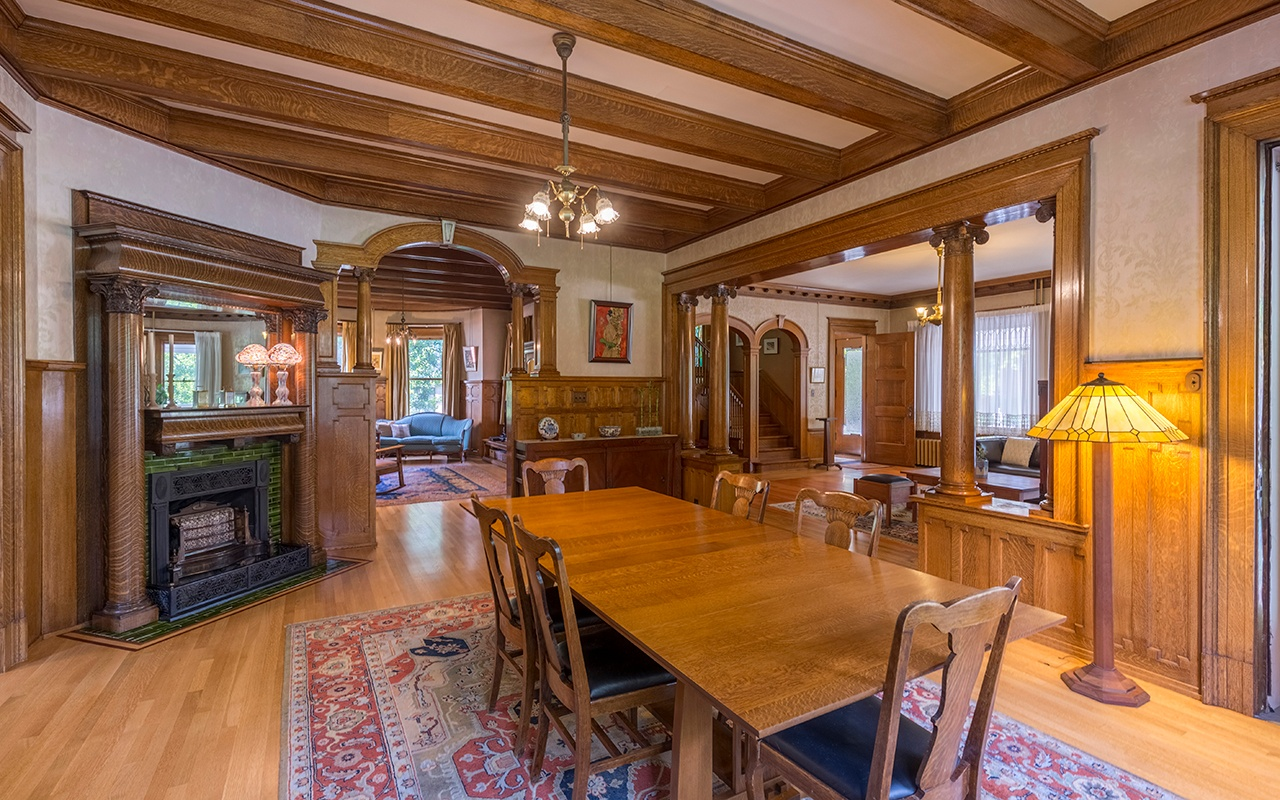 This elegant mansion is a turn-of-the-century heritage home in Bozeman, Montana.