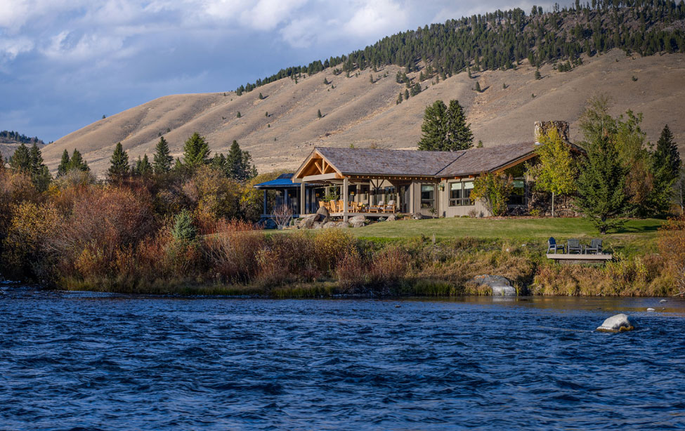 World-class fly-fishing, total relaxation, and privacy await the new owners of Willow Point, a beautiful mountain home on 4.75 acres in Montana's Big Sky Country.