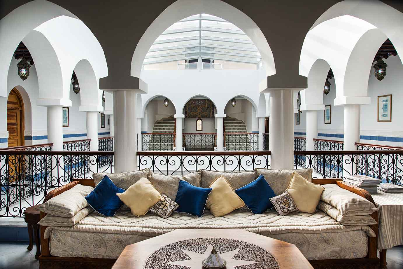 Villa Liza is a magnificent Moorish-inspired <em>riad</em> overlooking the bay of Tangier in the White City of Morocco.