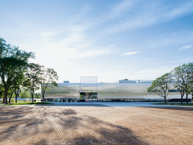 The 65,000-square-foot Garage Museum of Contemporary Art occupies a former 1,000-seat restaurant, reworked by Rem Koolhaas. Photograph: Iwan Baan/courtesy of OMA